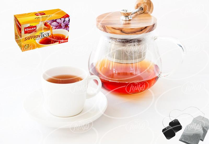 خرید مستقیم چای زعفران ادمان بسته بندی