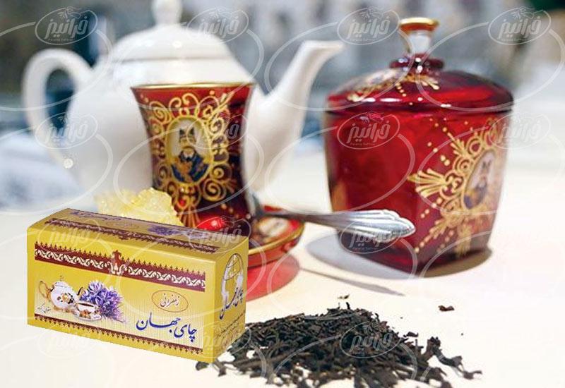 محصولات بی نظیر چای زعفرانی جهان در فروشگاه ها