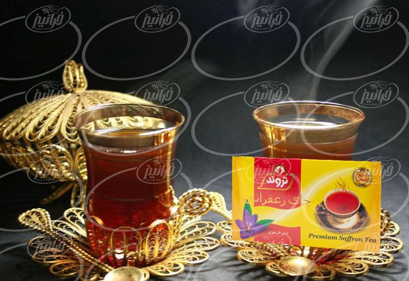 صادرات چای زعفرانی تروند به همراه دمنوش