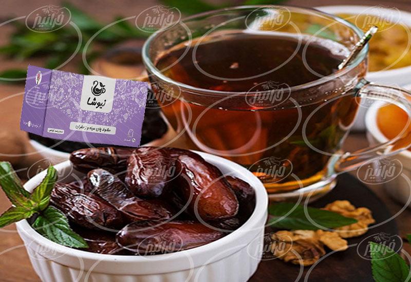 سایت سفارش دمنوش چای زعفران نیوشا اصلی